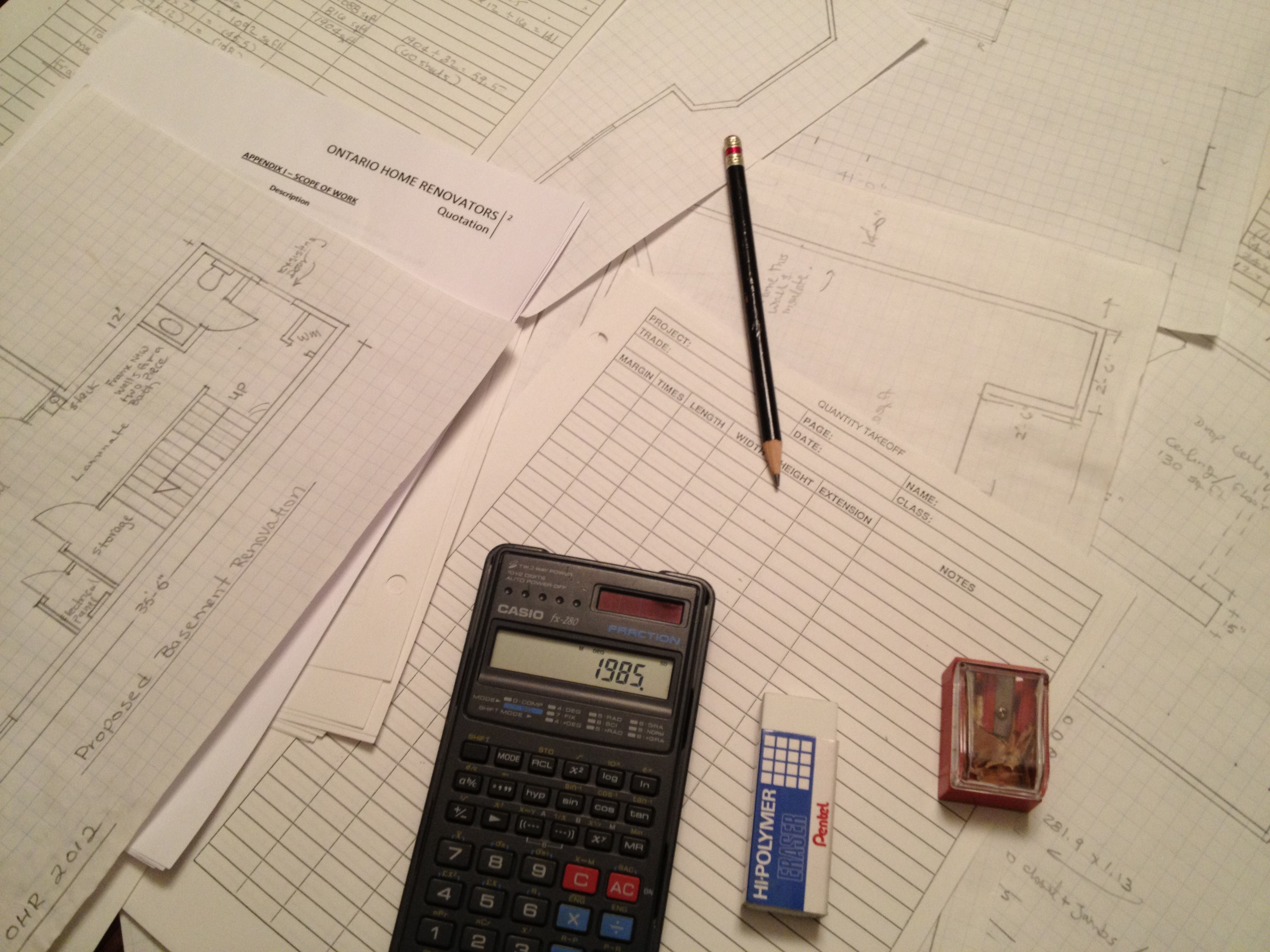Renovation Calculation